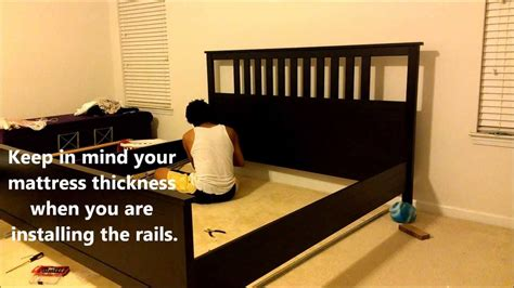 bed frame no box assembling an ikea hemnes bed