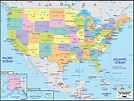 Detailed Political Map of United States of America ...