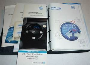 2000 Vw Jetta Owners Manual Set 00 Guide W  Case