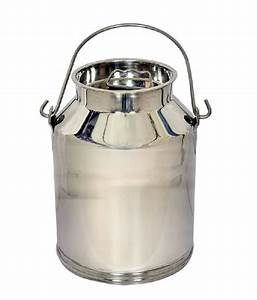 Metro, Silver, Stainless, Steel, Milk, Can, -, 5, Litre, Buy, Online, At, Best, Price, In, India