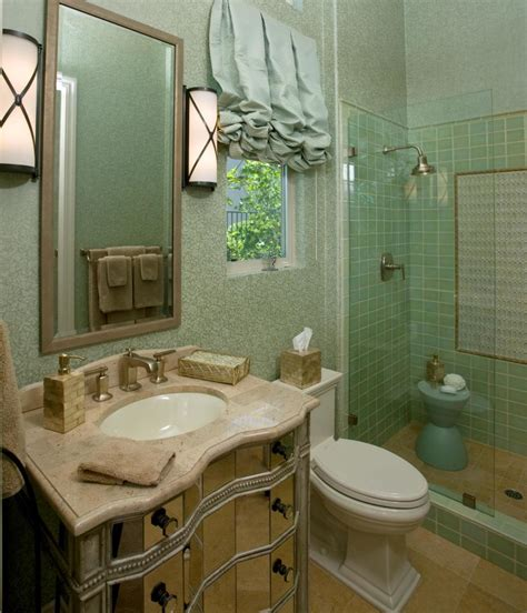 Bathroom For Guest Interior With Glass Dhoor Shower Room