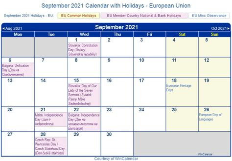 print friendly september  eu calendar  printing