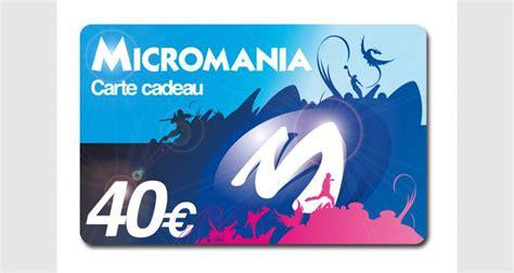 micromania siege social carte cadeau micromania 40 eur divers