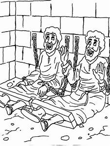 Paul In Prison Coloring Page Az Coloring Pages
