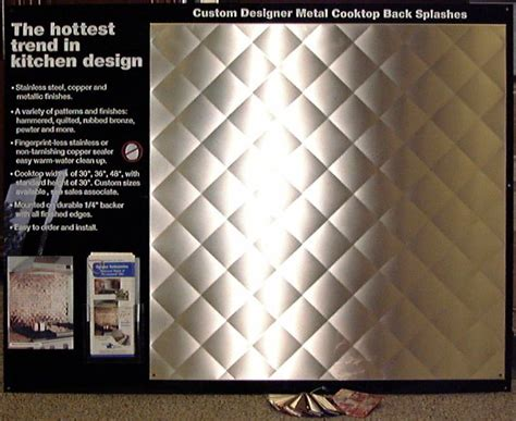 quilted stainless steel backsplash frigo design