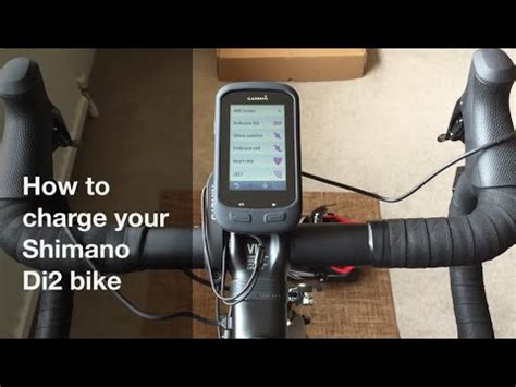 how to charge your shimano di2