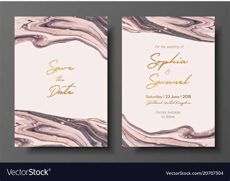 Modern design wedding invitation liquid Royalty Free Vector