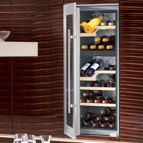 built in wine cabinet liebherr vinidor built in 2 temperature wine cabinet