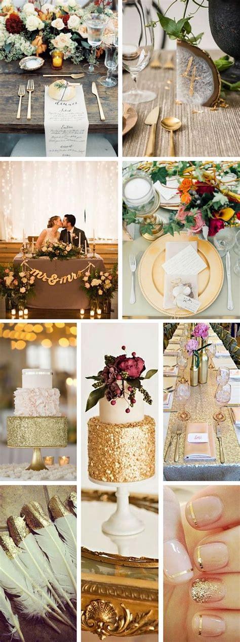gold decor 50 trendiest gold wedding ideas elegant glam