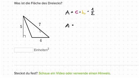 flaeche eines dreiecks berechnen youtube