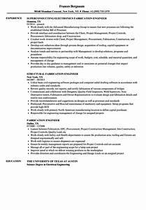 fabrication engineer resume samples velvet jobs With structural steel fabricator resume sample