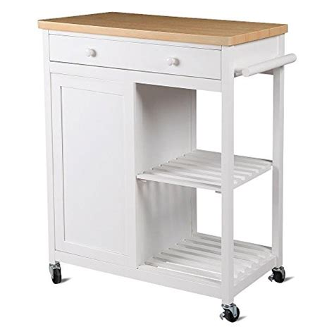 wooden kitchen storage trolley yaheetech kitchen island hollow cart wood kitchen trolley 1647