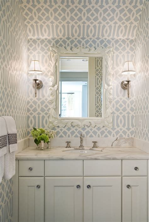 gorgeous wallpaper ideas   powder room