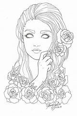 Coloring Pages Adult Drawing Lines Printable Adults Colouring Grown Books Sheets Print Eyes Line Ups Deviantart Drawings Female Faces Sketches sketch template