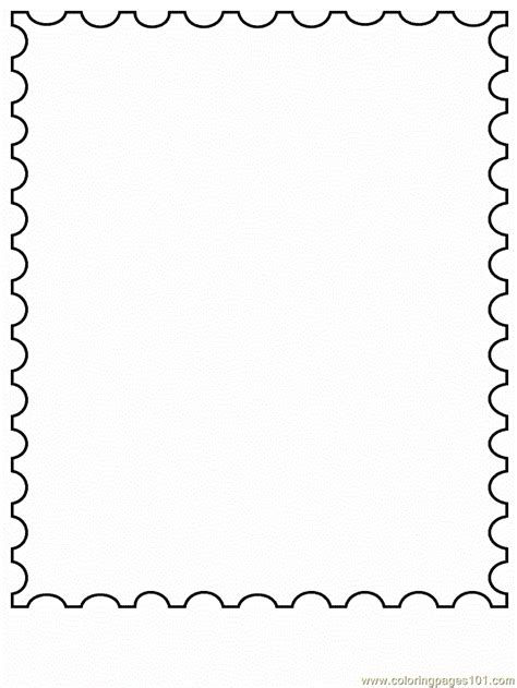 stamp coloring page  simple shapes coloring pages coloringpagescom