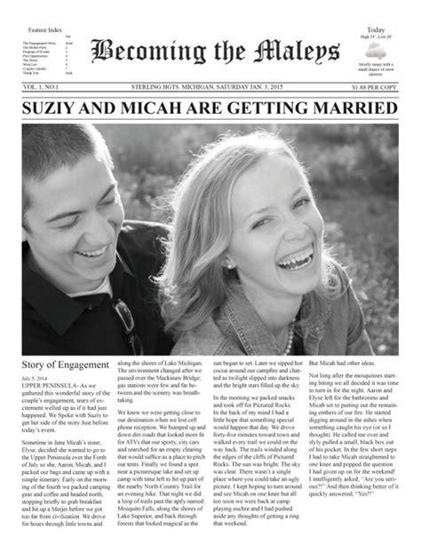newspaper wedding program template