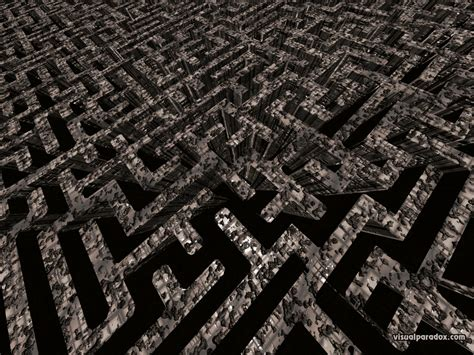 Free 3D Wallpaper 'The Maze' 1024x768