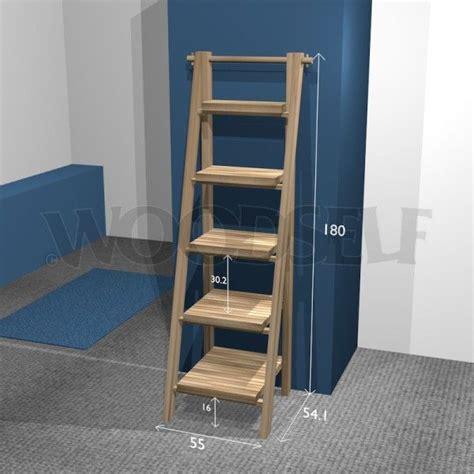 etagere echelle plan du meuble meuble  faire soi meme woodself crea resine noeuds coreens