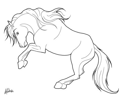 Rearing Horse Coloring Pages Coloring Pages