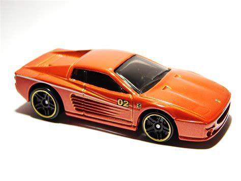 Black w/red stripes on top, red. Ferrari F512M - Hot Wheels Wiki