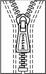 Zipper Clip Clipart Abcteach sketch template