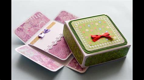 Create custom greeting cards online with moo. How to Make - Surprise Box Greeting Card Birthday - Step by Step | Kartka Niespodzianka - YouTube