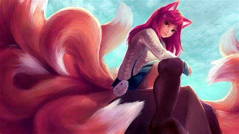 academy ahri league  legends wallpaper hd league