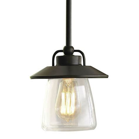 allen roth bristow mini pendant light with clear shade