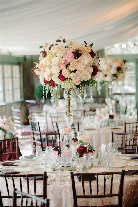 trending 10 burgundy and blush wedding centerpieces for 2018 page 2 of 2 oh best day ever