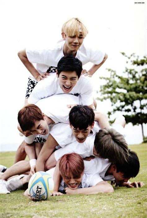 exo from happiness baekhyun chanyeol suho chen sehun kai d o exo dear