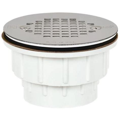 2 in pvc shower drain with strainer 825 2ppk the home depot