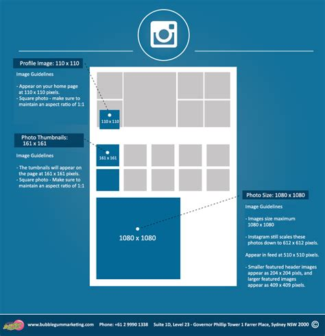 Instagram Photo Sizes Instagram Banner Size Dimensions 2016 Bubblegum