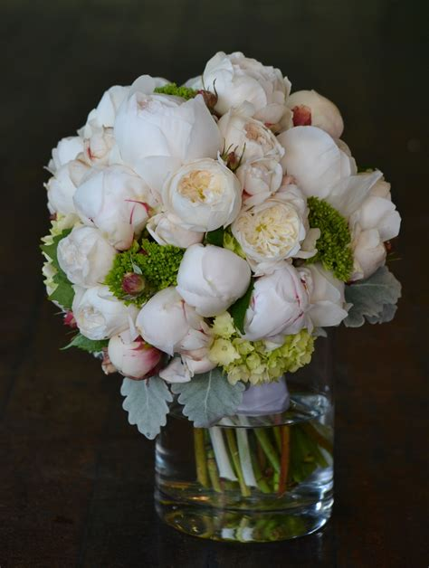 peony wedding bouquet  rose times
