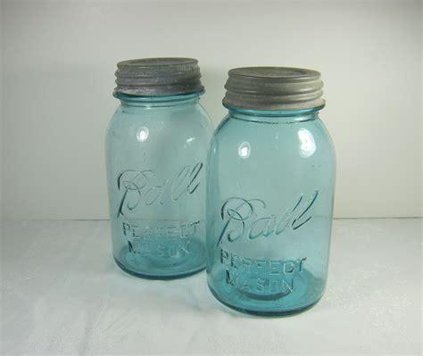 antique jars vintage blue ball canning jar antique by lavendergardencottag
