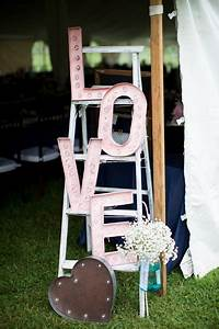 pink virginia orchard wedding real wedding photos by With marquee letter rental miami