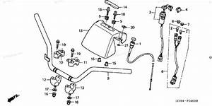 Honda Atv 2001 Oem Parts Diagram For Handlebar   U0026 39 01