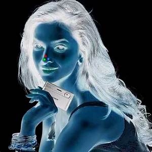 1. Stare at the red dot on the girl's nose for 30 seconds ...