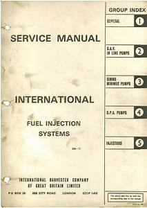 International Fuel Injection Systems Service Manual Cav In