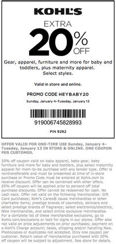 printable kohls coupons april
