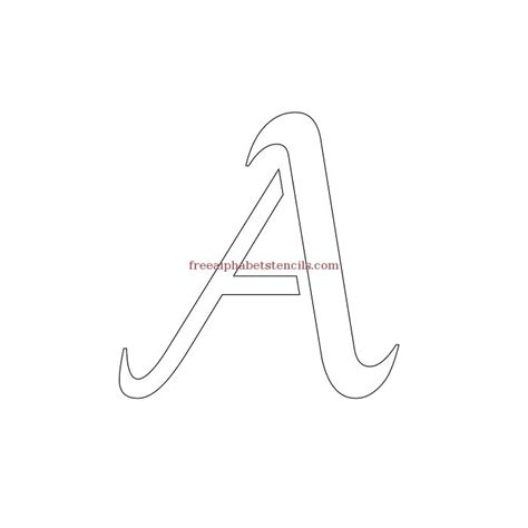 free printable alphabet letters stylish cursive alphabet stencils freealphabetstencils 53250