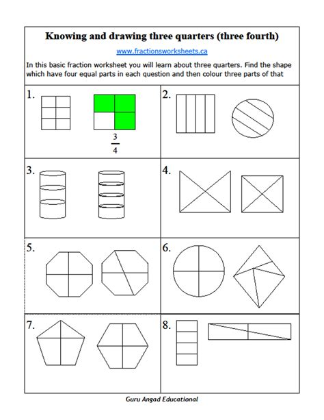 2nd Grade Math Basic Fractions  Two Quarters And Three Quarters — Steemit