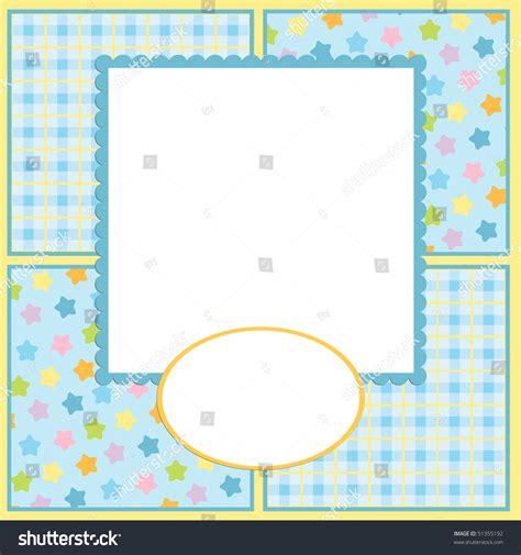 blank template  card photo frame stock vector