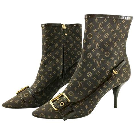louis vuitton mimosa monogram mini ankle boots   stdibs