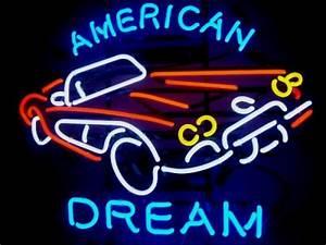Enseigne Lumineuse Vintage : enseigne lumineuse n on american dream corvette 71 x 57 cm ~ Teatrodelosmanantiales.com Idées de Décoration