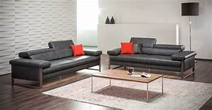 canape cuir design 3 places dreamline assises motorisees With canapé cuir design 3 places
