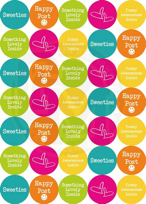 cuisine alu free post stickers bright summer colours food