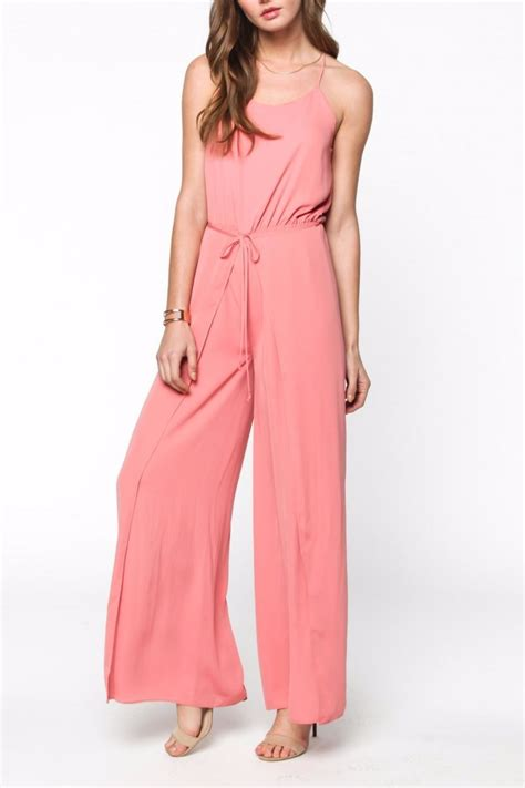 pink jumpsuits everly pink sleeveless jumpsuit from florida by sloane