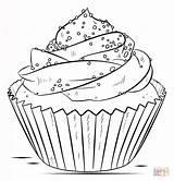 Colorear Cupcake Dibujos Coloring Dibujo sketch template