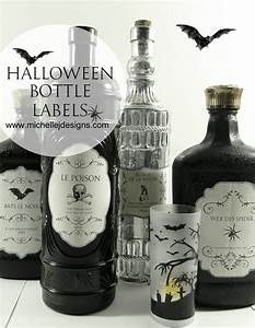 halloween bottle labels michelle james designs With create bottle labels