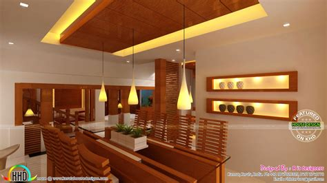 wood home interiors wooden finish interior designs kerala home design and